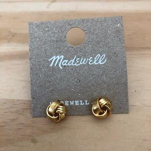 NWT Madewell knotted mini stud earrings in…